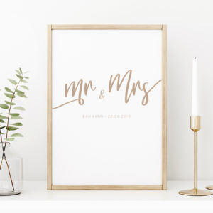Mr Mrs Artprint personalisiert