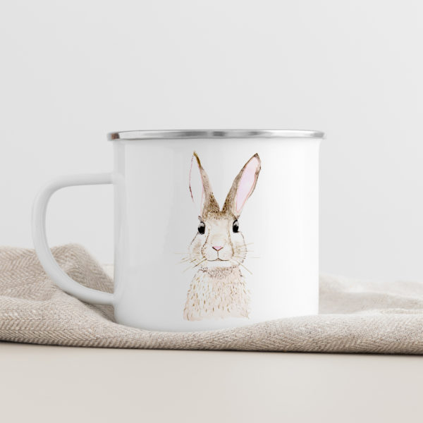 Emaille Tasse Hase